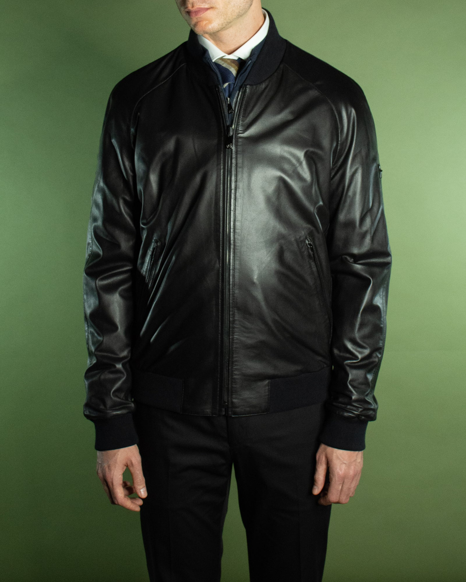 CORNELIANI REVERSIBLE LEATHER JACKET