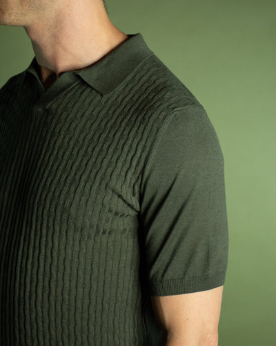 CORNELIANI OPEN COLLAR POLO