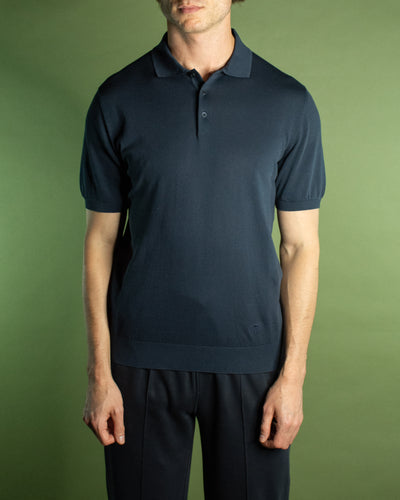 CORNELIANI GARMENT DYED POLO