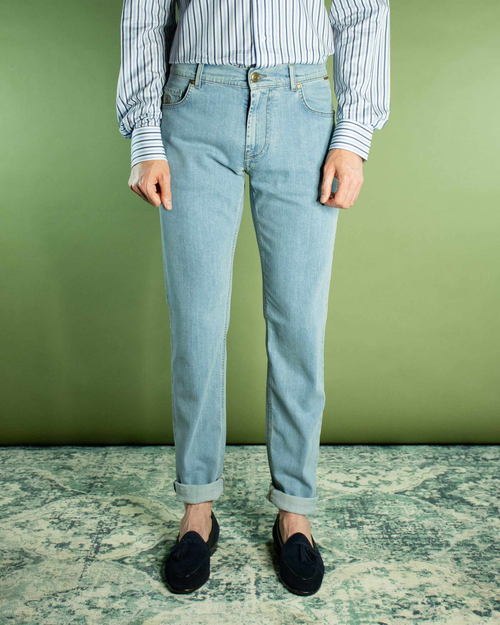 CORNELIANI LIGHT WASHED DENIM