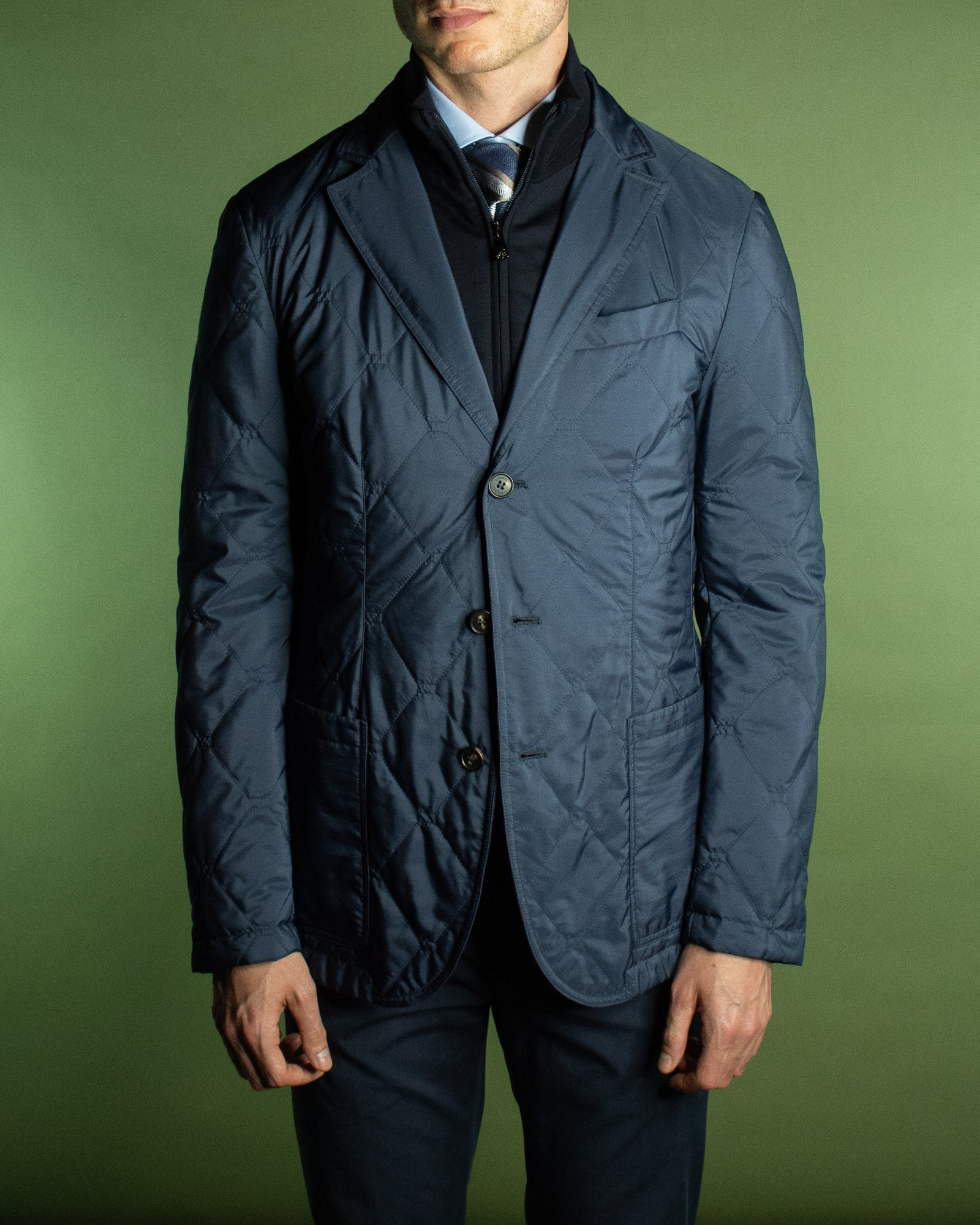 CORNELIANI QUILTED LIGHTWEIGHT BLAZER