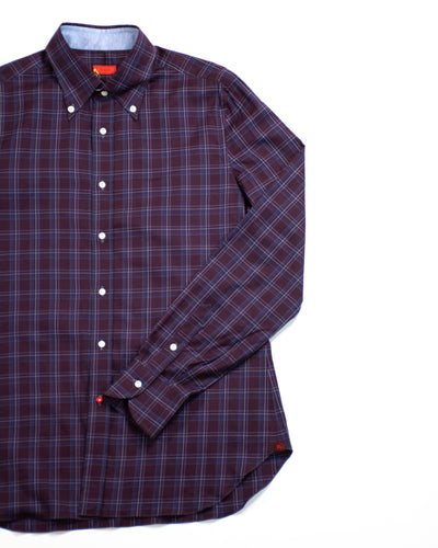 ISAIA Button Down Collar Casual Shirt