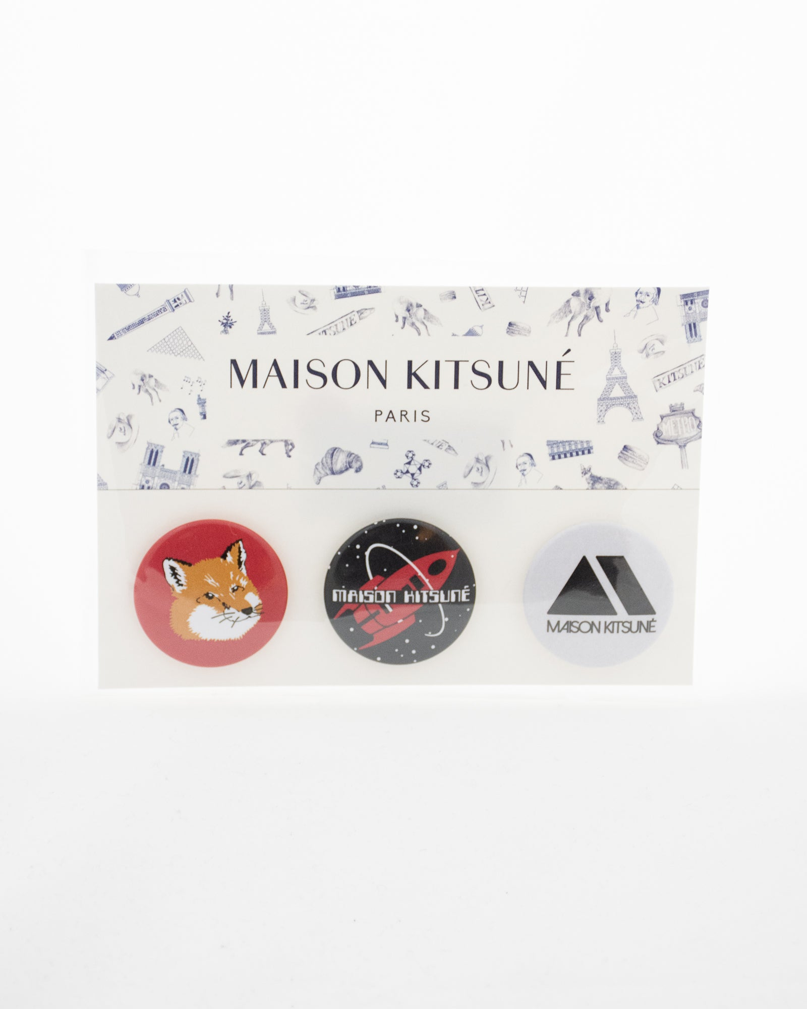 MAISON KITSUNE Fox Badge Set