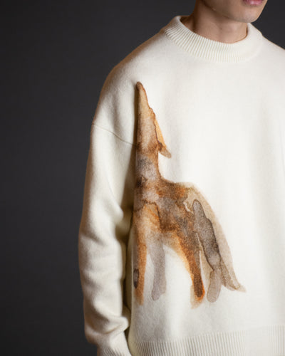 JIL SANDER COYOTE PRINT SWEATER