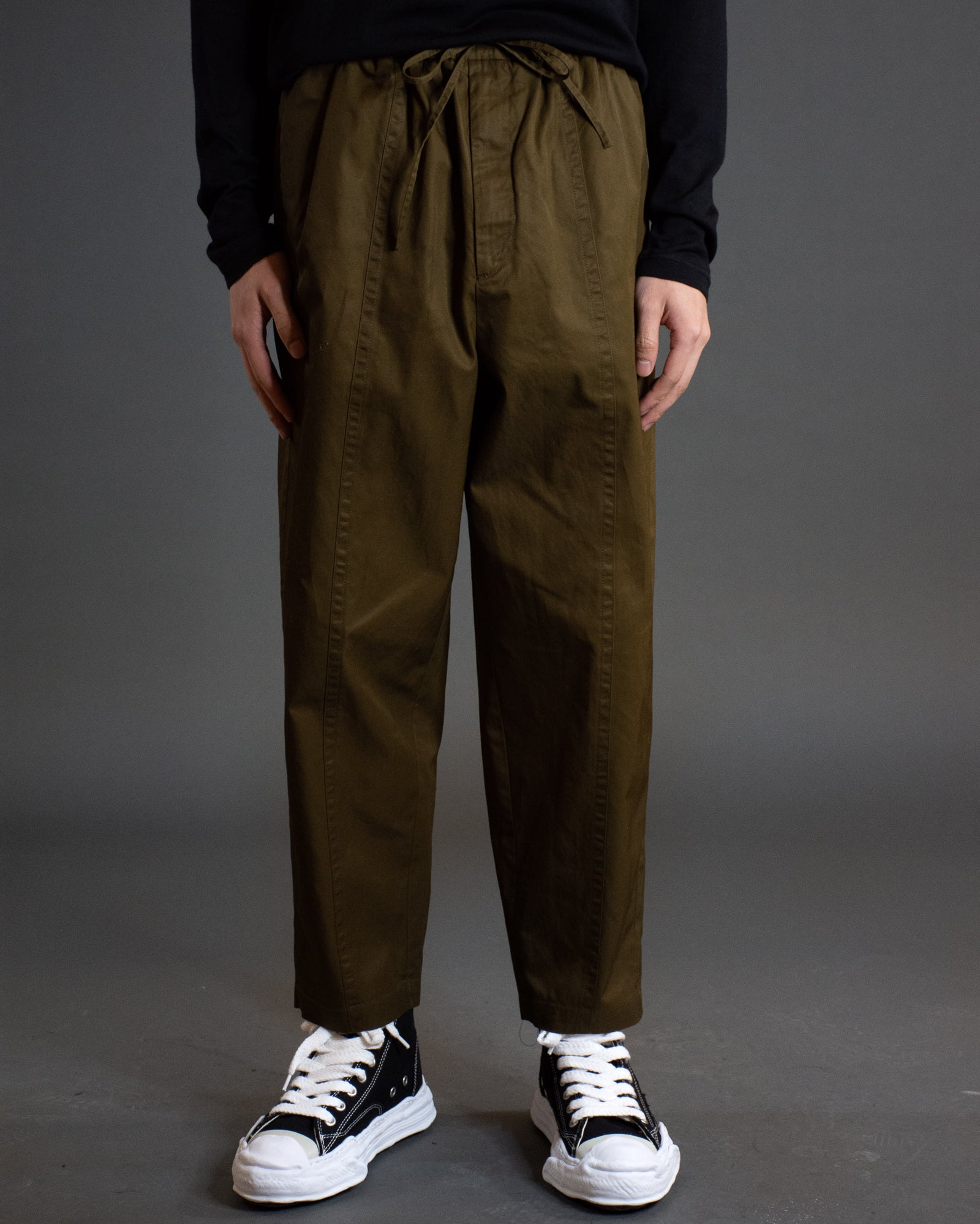 JIL SANDER CROPPED TECH TROUSER