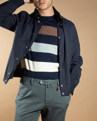 BRUNELLO CUCINELLI Stripe Knit Tee
