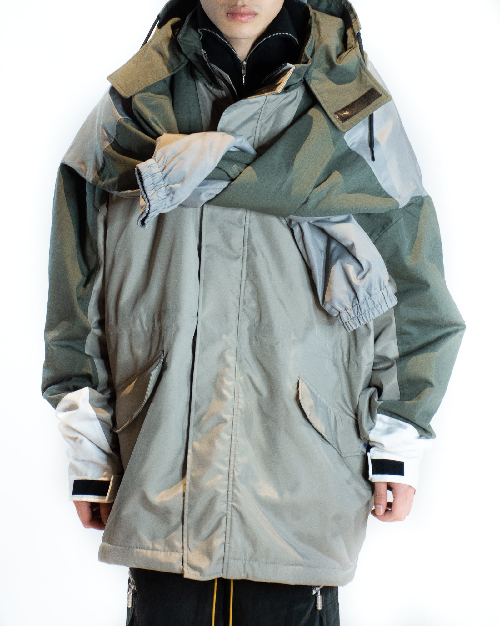 MARTINE ROSE TIED NECK SKI JACKET