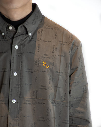 MARTINE ROSE x FARAH JACQUARD SHIRT