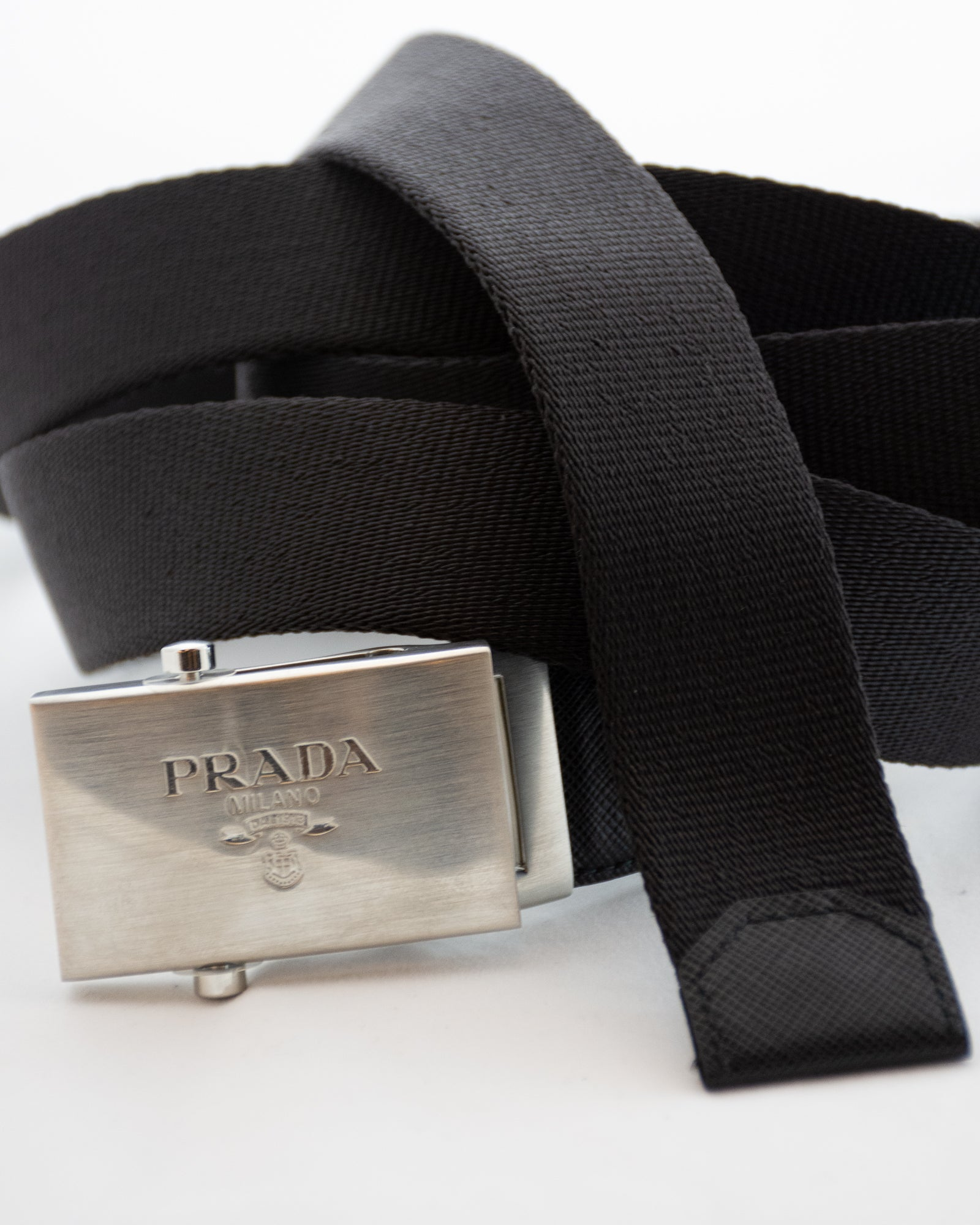 PRADA Long Classic Buckle Belt