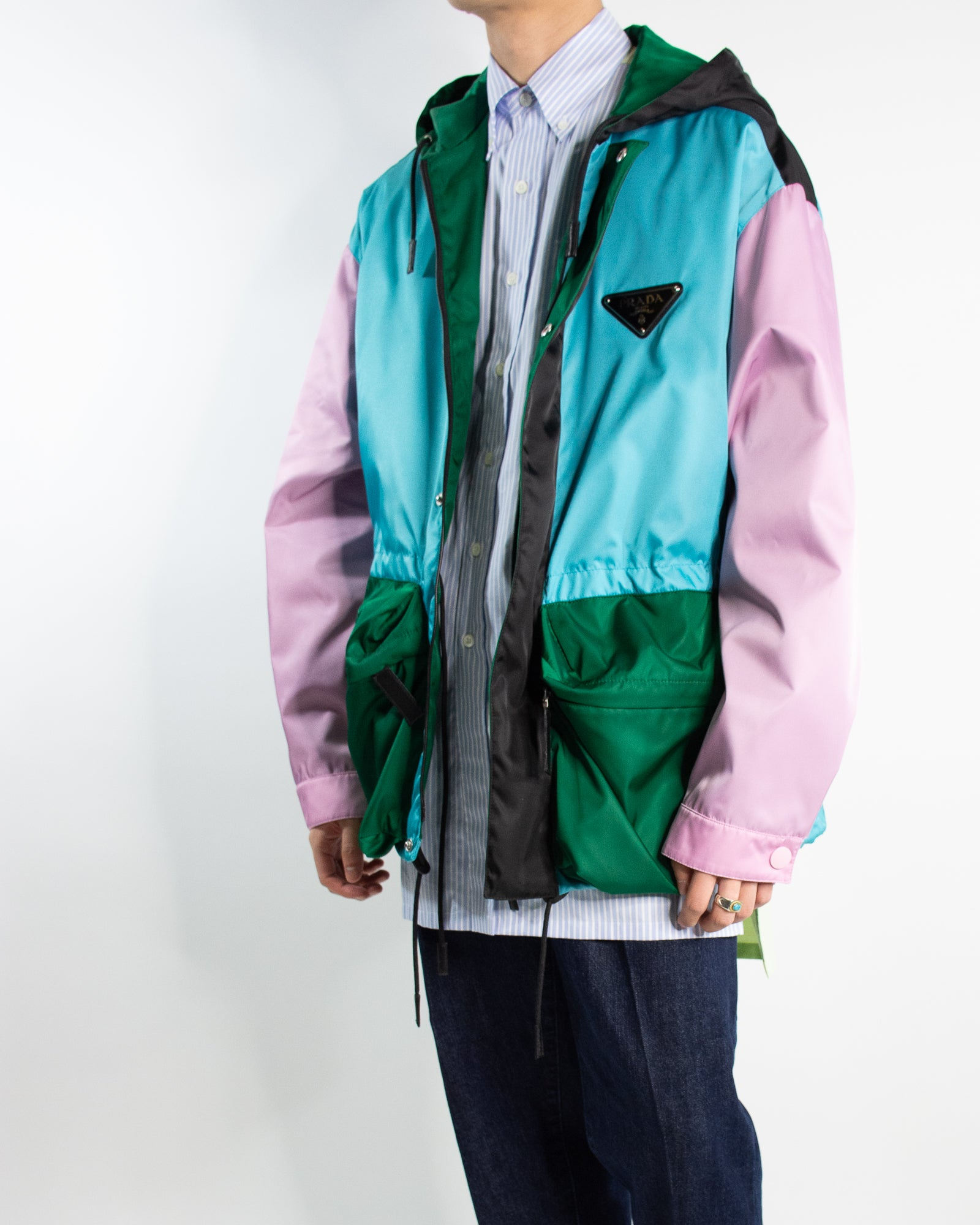 PRADA Colour Blocked Technical Jacket
