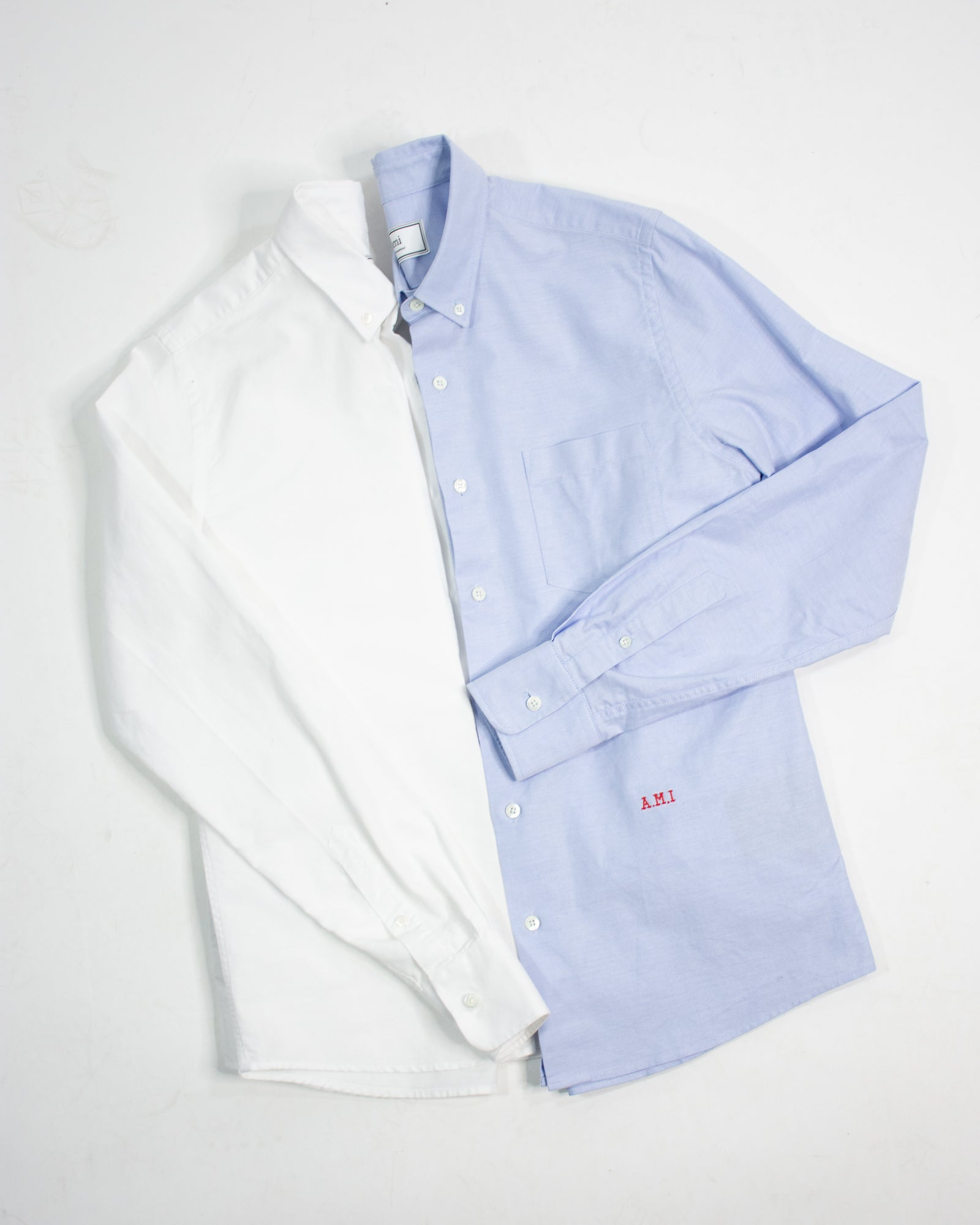 AMI Button Down Collar Logo Shirt