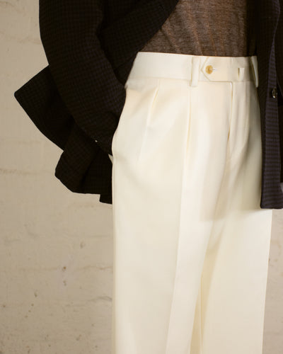 NAMIMAN Carico Double Inverted Pleat Trouser
