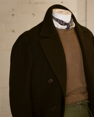 NAMIMAN Carico Double Breasted Checked Coat