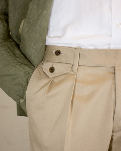 NAMIMAN Koenji Cotton Cinched Back Trouser