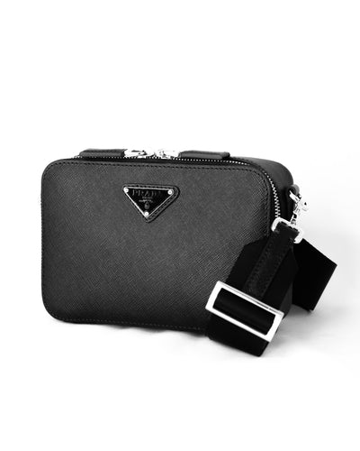 PRADA SAFFIANO HOBO CAMERA BAG