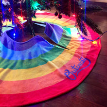 Load image into Gallery viewer, Rainbow Pride Christmas Tree Skirt