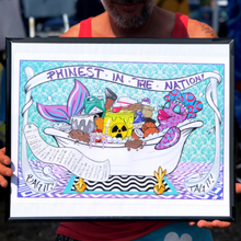 Load image into Gallery viewer, Reba Phish Summer 2019 Tour Poster Print Bag It Tag IT