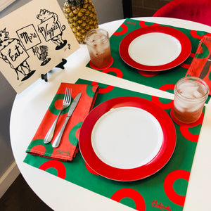 Holiday Donut Placemats & Napkins (Set of 2), Phish Placemats & Napkins