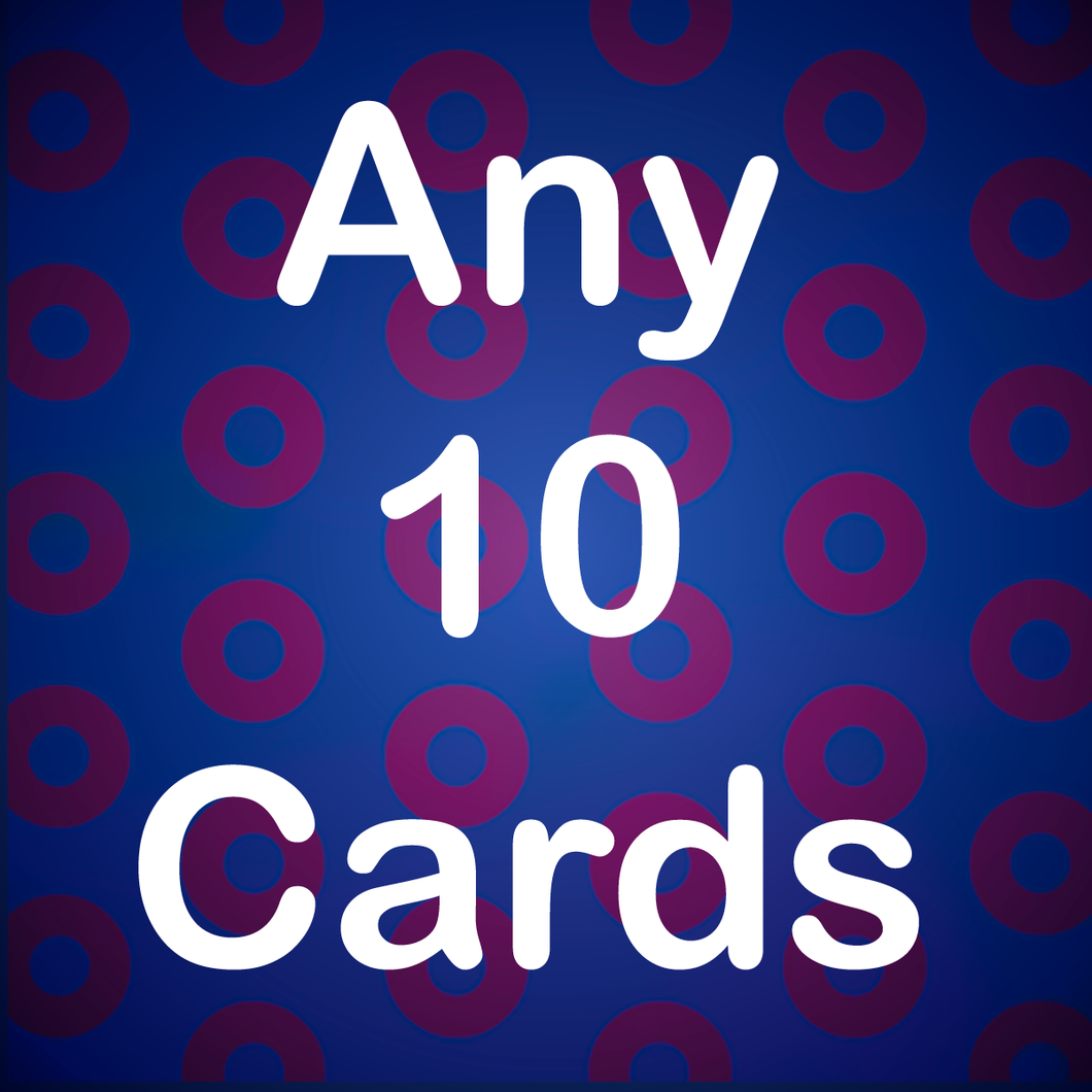 10 Pack Phish Greeting Cards