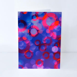 Phish Donut Bokeh Greeting Card