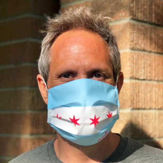 Chicago Flag Face Mask