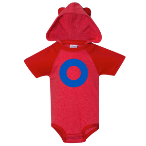 Fishman Donut Hooded Baby Onesie