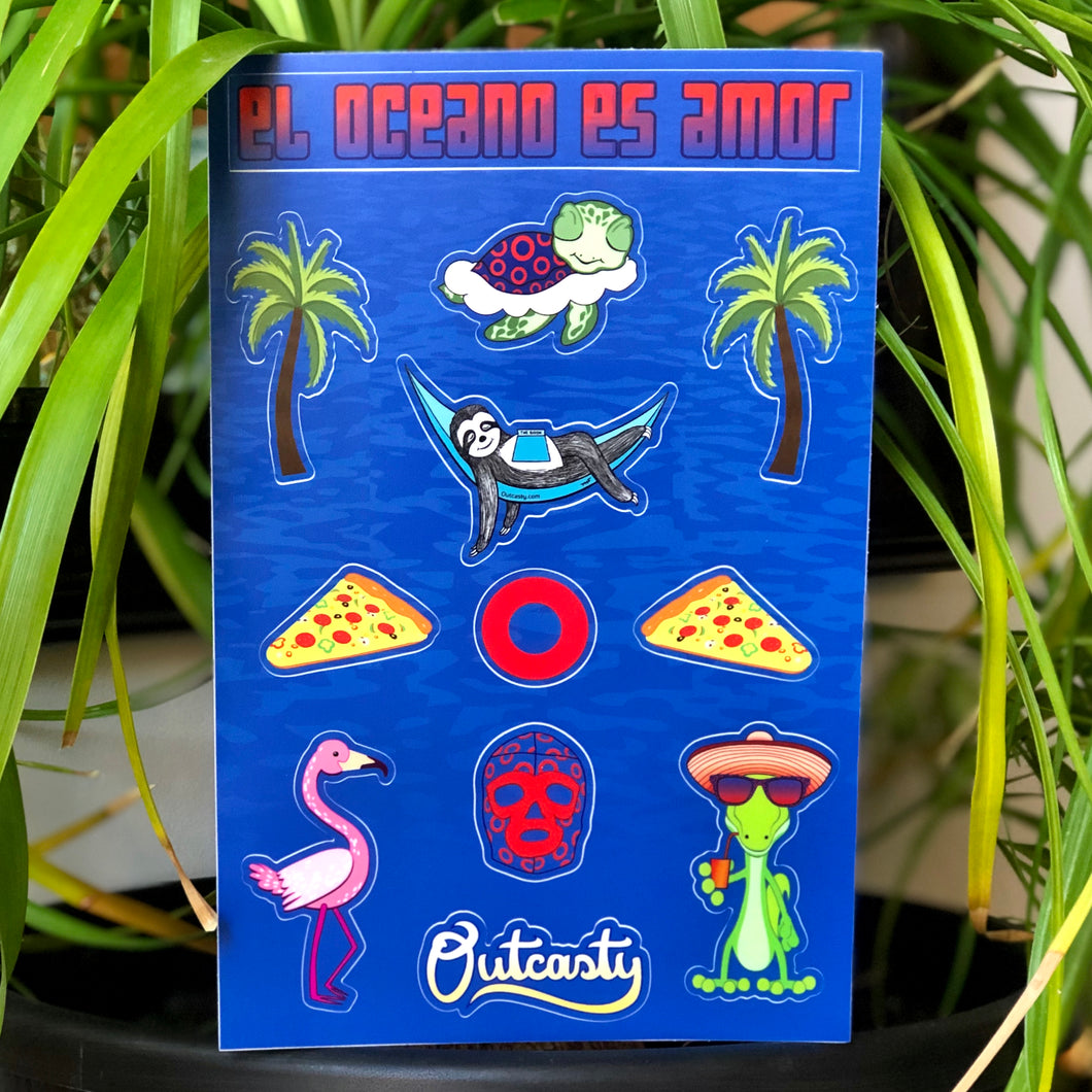 Phish Mexico Sticker Pack, Soul Planet Stickers, The Ocean is Love Sticker Pack