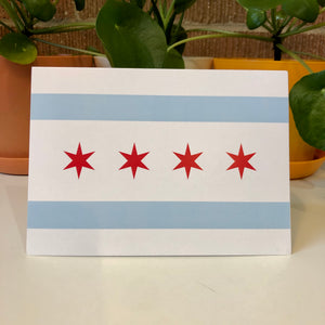 Chicago Flag Greeting Card, Chicago Card, Windy City Card