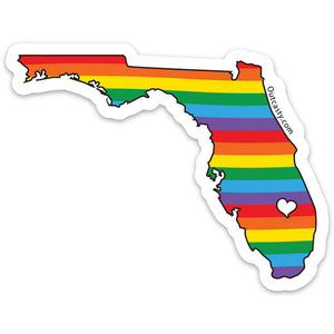 Florida State Rainbow Pride Sticker