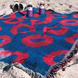Phish Donut Woven Cotton Blanket