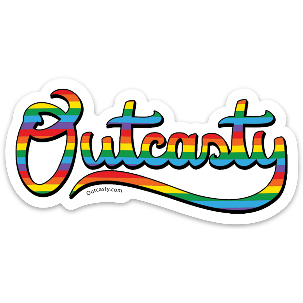 Outcasty Rainbow Pride Sticker