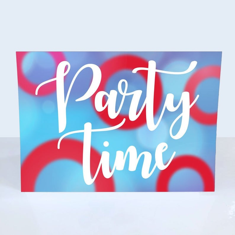Party Time Phish Donut Greeting Card