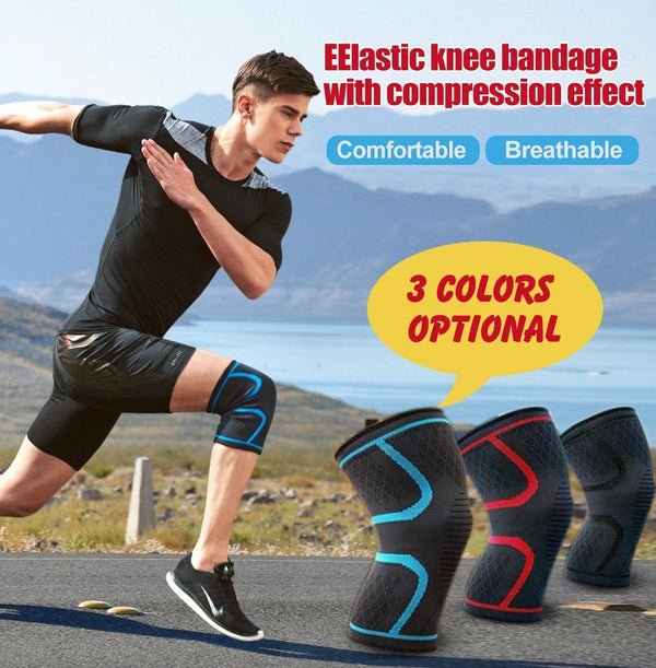 Elastic Knee Brace, Anti Slip Knee Support Compression Sleeves