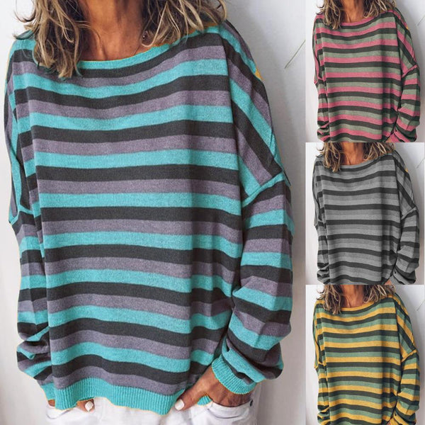 Boundwer™ Casual Striped Sweater