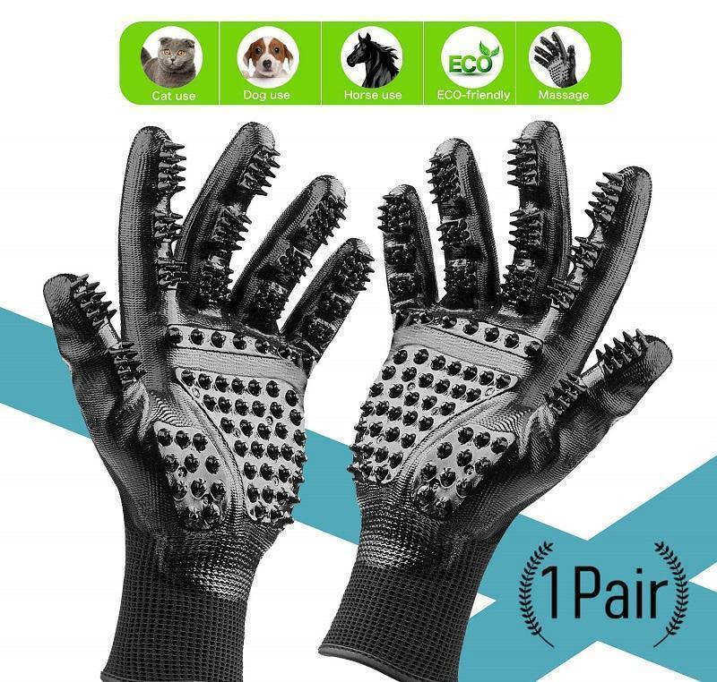 Hirundo® Pet Grooming Gloves For Cats, Dogs & Horses - ( 1 pair )