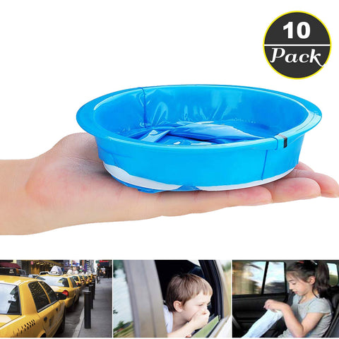 10 Pack Emesis Bag, Disposable Vomit Bags, must-have for taxis and car service providers ,10 Pack(Blue)