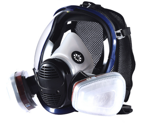 Respirator Full Seal Protection Double Air Filter Eye Protection Respiratory Protection (Without Canister)