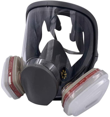 Full Facemask Respirator Facepiece Gas Mask for Spray Painting Benzene Preventio (Without Canister)