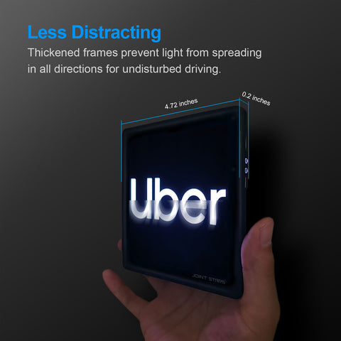 JOINT STARS Wireless Remote Control Uber Led Signs for Car,Uber/Lyft Sticker Sign Accessories Premium Black