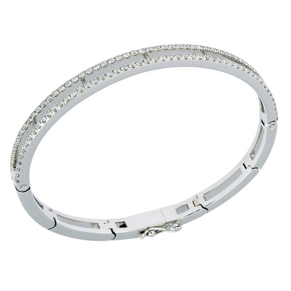 White Golden Bracelet set with 104 Diamonds of 1.43 Carats