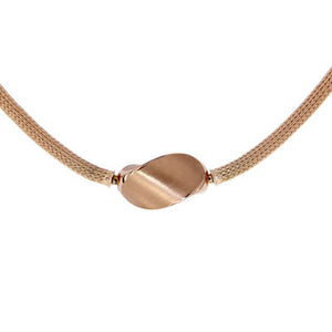 Pink Golden Knitted Mesh Necklace - Select your Favourite Clasp