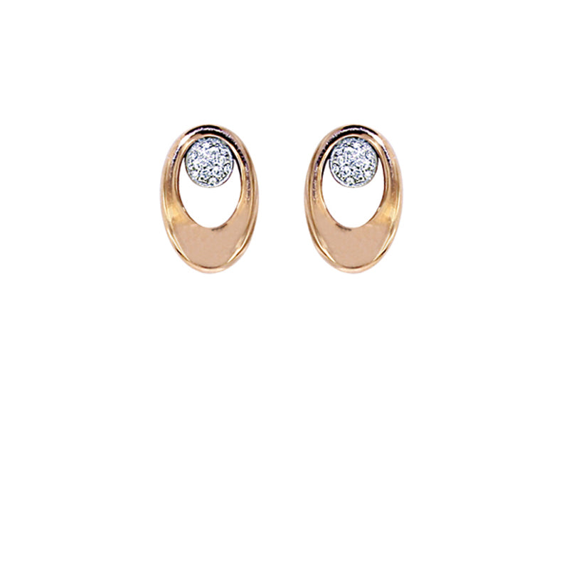 Pink and White Golden Diamond Earrings - Select your Favourite Pendants