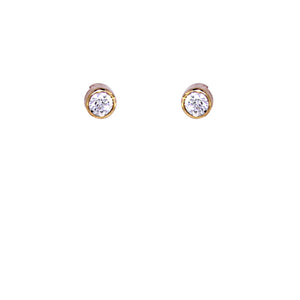 White Diamond Earrings Studs - Select your Favourite Pendants