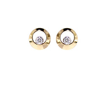 Load image into Gallery viewer, Yellow Golden Diamond Earrings - Select your Favourite Pendants