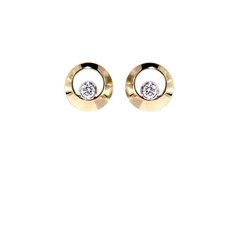Yellow Golden Diamond Earrings - Select your Favourite Pendants