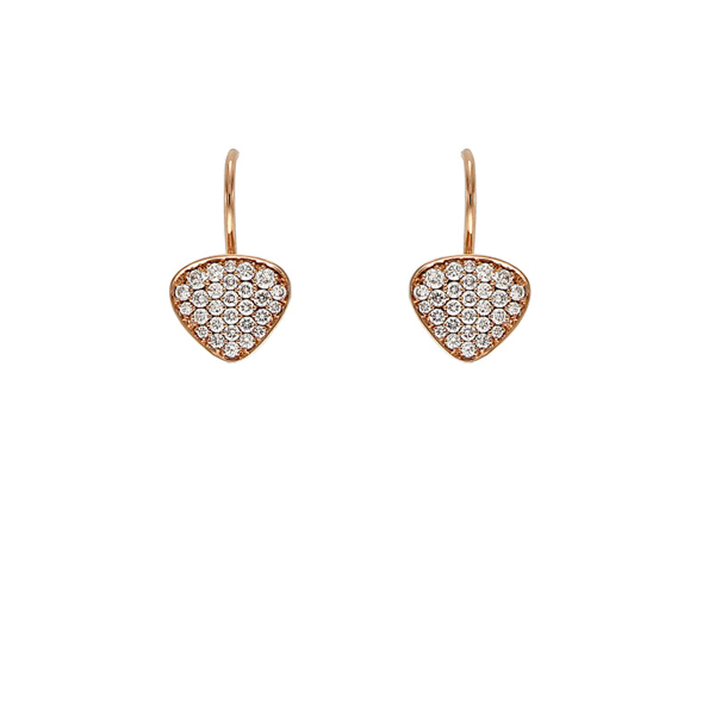 Pink Golden Diamond Earrings - Select your Favourite Pendants