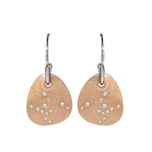 White Golden Earrings - Select your Favourite Pendants