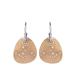 White Golden Diamond Earrings - Select your Favourite Pendants