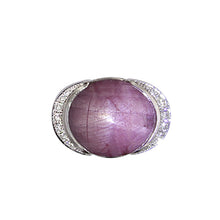 Load image into Gallery viewer, White Golden ring set with 26,88 Carat Ruby and Diamonds
