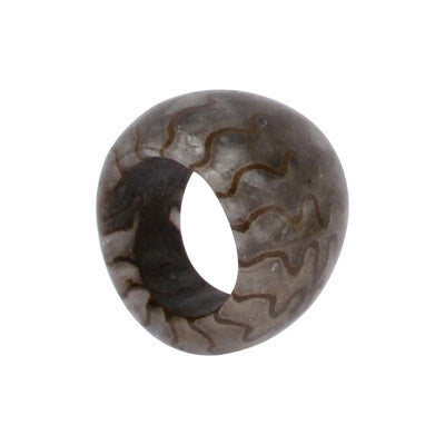 Completely Stone Ammonite Ring